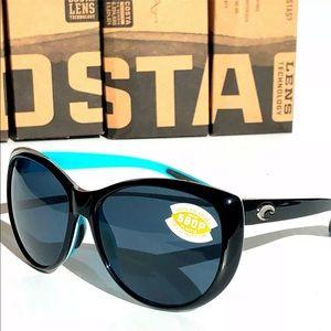 New Costa Del Mar La Mar LM 87 Black Sunglasses!